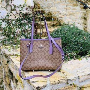 NwT Coach Signature Avenue tote handbag lilac